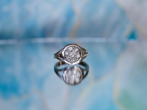 cluster ring, white gold, fashion ring, virginia beach jewelry store, hilltop pawn