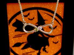Infinity Necklace Chesapeake VA, Infinity Jewlery Chesapeake Virignia, Peridot Jewelry Chesapeake Virginia, Va Beach Jewelry Store