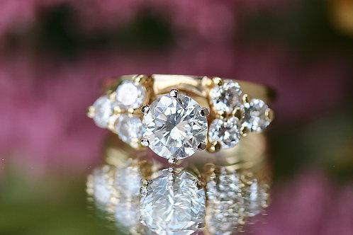 ROUND DIAMOND WRAP WEDDING SET