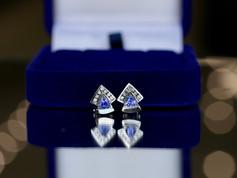 tanzanite, diamonds, white gold, virginia beach jewelry beach, hilltop pawn shop