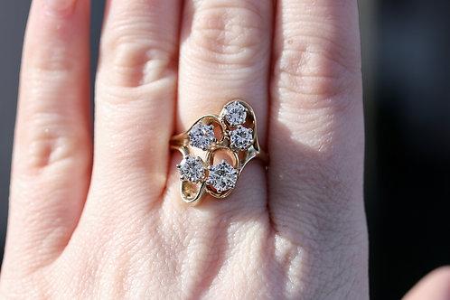 5 STONE ROUND FREEFORM DIAMOND FASHION RING