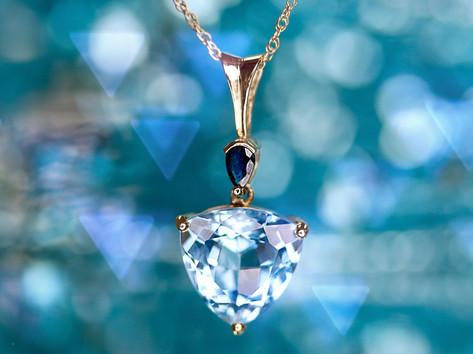 blue topaz, sapphire, gemstone jewelry, virginia beach jewelry store, hilltop pawn