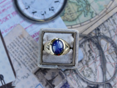star sapphire, yellow gold, mens jewelry, virginia beach jewelry store, hilltop pawn shop