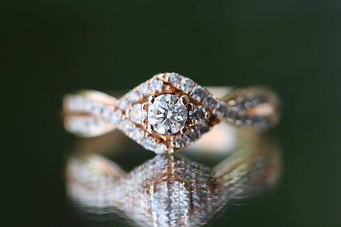 ROUND DIAMOND ROSE GOLD WEDDING SET