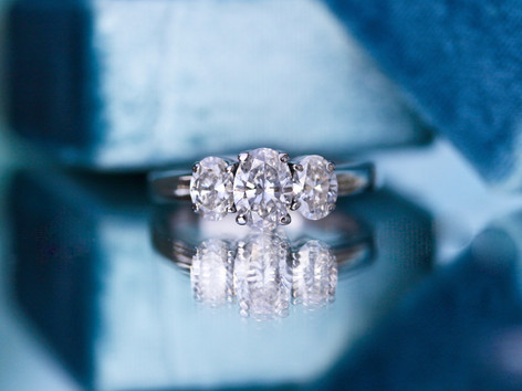 three stone, oval diamond, engagement ring, virginia beach jewelry store, hilltop pawn