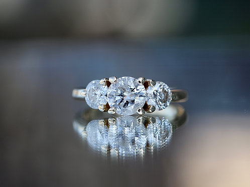 PAST, PRESENT & FUTURE ROUND DIAMOND ENGAGEMENT RING