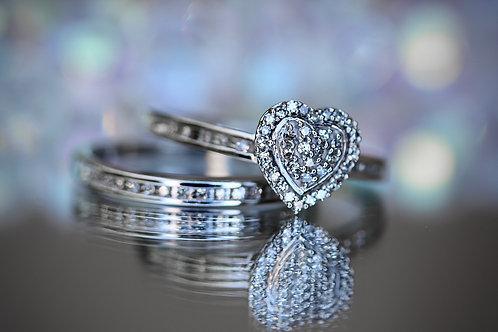 HEART SHAPED ILLUSION WEDDING SET