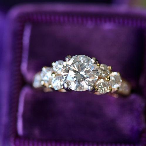 BRILLIANT CUT ROUND DIAMOND ENGAGEMENT RING