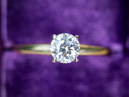 LEO SOLITAIRE ROUND DIAMOND ENGAGEMENT RING