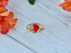mexican fire opal, yellow gold, gemstones, virginia beach jewelry store, hilltop pawn