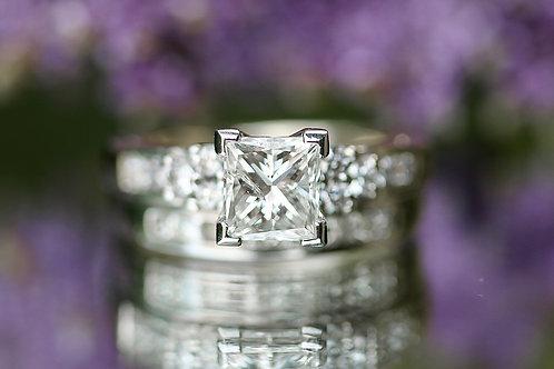 MULTI STONE PRINCESS CUT WEDDING SET
