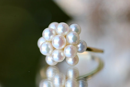 PEARL CLUSTER COCKTAIL RING