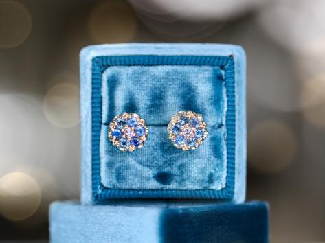 blue gemstone, yellow gold, diamonds, fashion ring, virginia beach jewelry store, hilltop pawn shop