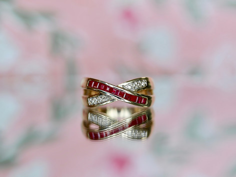ruby fashion ring, gemstone jewelry, unique jewelry, virginia beach pawn shop, hilltop pawn shop