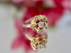 Flower Rings Chesapeake VA, Flower Engagement Rings Chesapeake Virginia, Unique Engagement Rings Chesapeake VA, Jewelry Store in Chesapeake Virginia