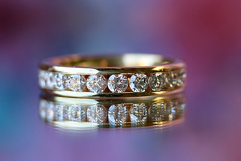 ROUND DIAMOND CHANNEL SET WEDDING BAND