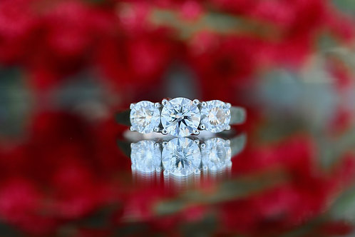 PAST, PRESENT AND FUTURE ROUND DIAMOND ENGAGEMENT RING