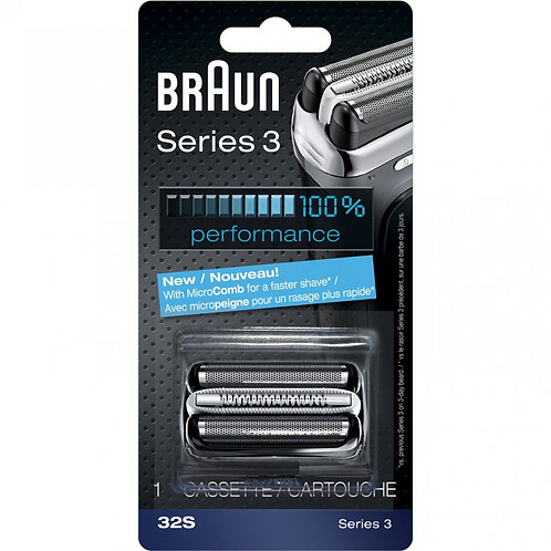 Braun SERIES 3 Silver Replacement Foil and Cutter