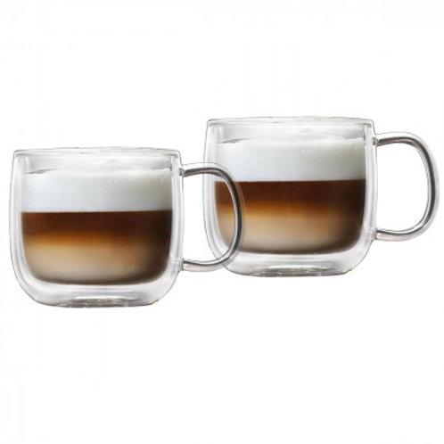 Barista+ 16.7 oz Double Wall Café Latté Mugs, 2-Piece Set