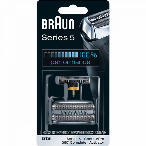 Braun CONTOUR PRO SERIES 5 Silver Replacement Foil and Cutter