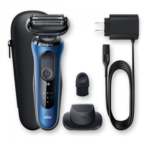 Braun SERIES 6 SENSOFLEX Rechargeable Shaver with Precision Trimmer