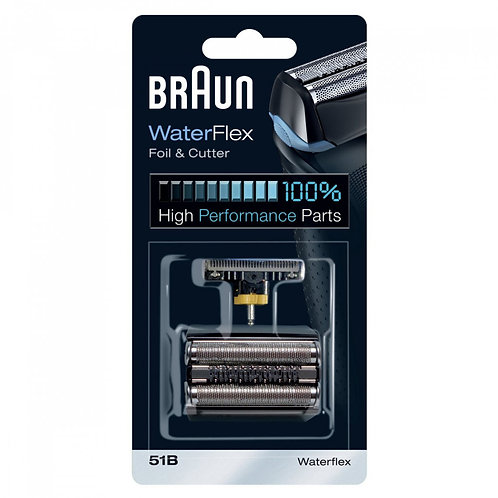Braun WATERFLEX Black Replacement Foil and Cutter