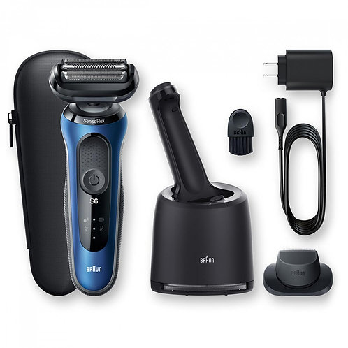 Braun SERIES 6 SENSOFLEX Rechargeable Shaver with SmartCare Centre