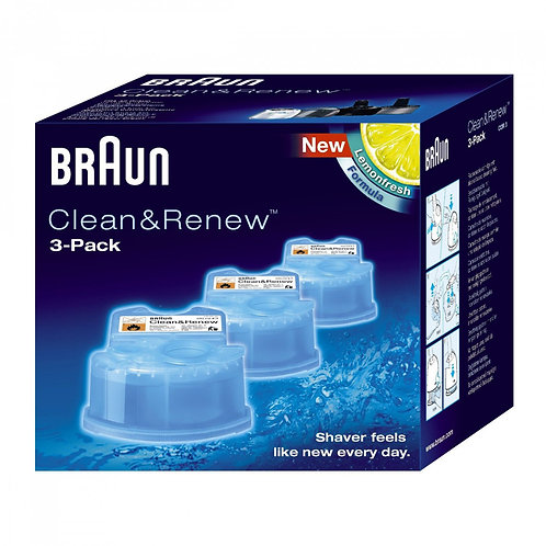 Braun CLEAN&RENEW 170 ml Cleaning Cartridges, 3-Pack