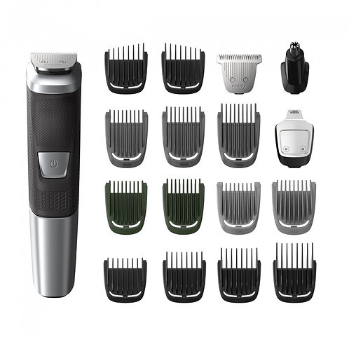 Philips MULTIGROOM SERIES 5000 Rechargeable Face, Head & Body Trimmer, 18-Pieces