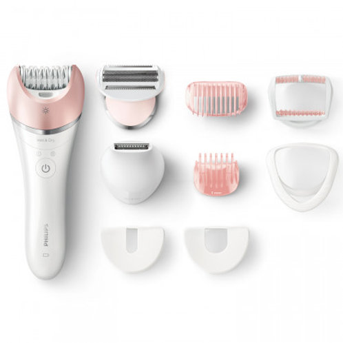 Philips SATINELLE ADVANCED Rechargeable Epilator and Shaver, 8-pieces