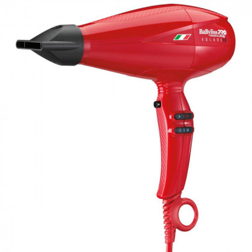BabylissPro VOLARE 1875 W Red Professional Hair Dryer with Nano Titanium Infused