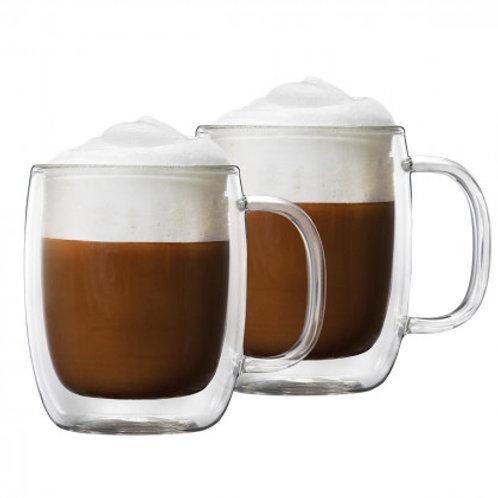 Barista+ 8.8 oz Double Wall Cappuccino Mugs, 2-Piece Set