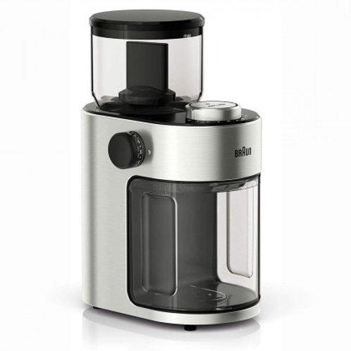 Braun FRESH SET 12-Cup Stainless Steel Flat Burr Coffee Grinder