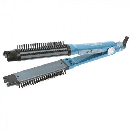BabylissPro OMNI STYLER 1 1/4 in. 2-in-1 Curling Brush & Flat Iron
