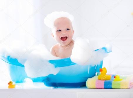 Cuidados com o banho do bebê
