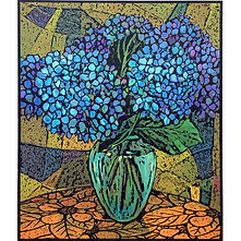 Hydrangeas  250X 300 LithographArchival