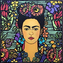 Flora Frida 270 X 270 LithographArchival