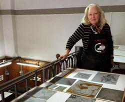 Looking at prints upstairs copy