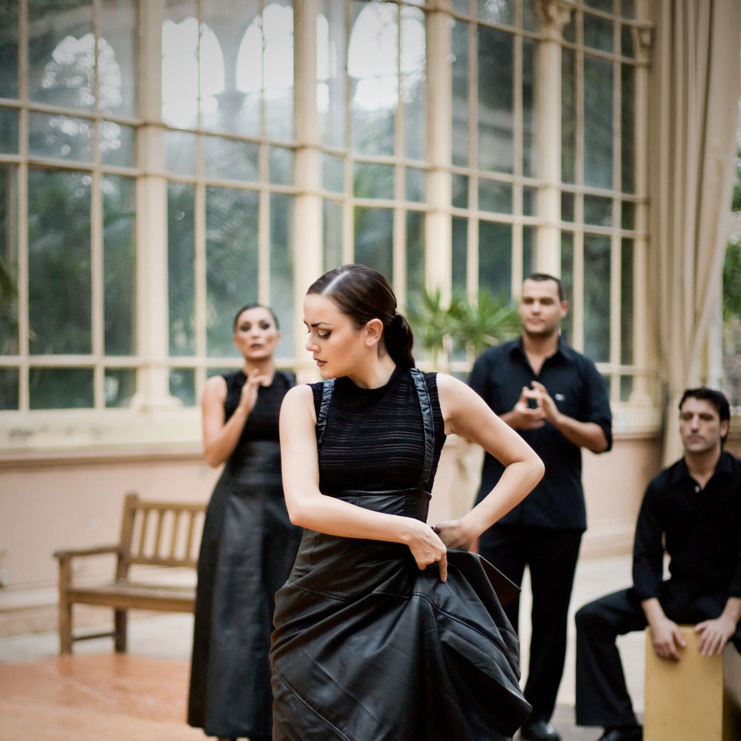 Flamenco Dancer in Black