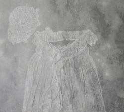 Christening gown detail