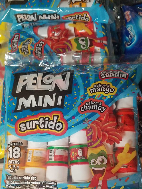 Pelon Mini Surtido 18 ct. (13g. each)