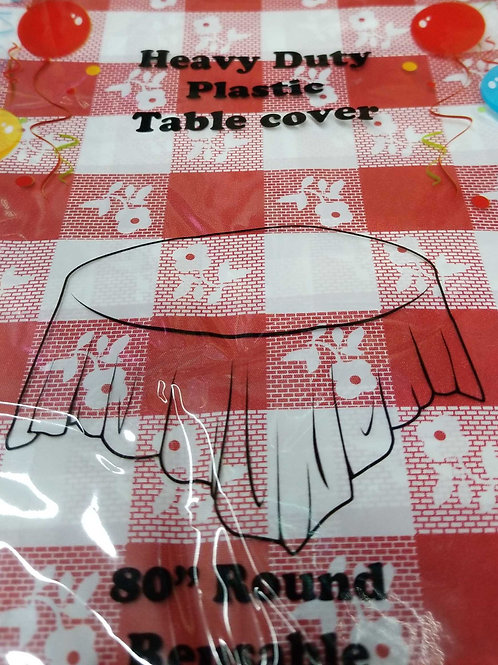 Plastic Round Tablecover 84""