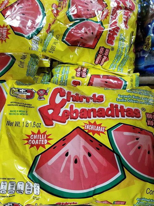 Candy Pop Chirris Rebanaditas 100 ct.