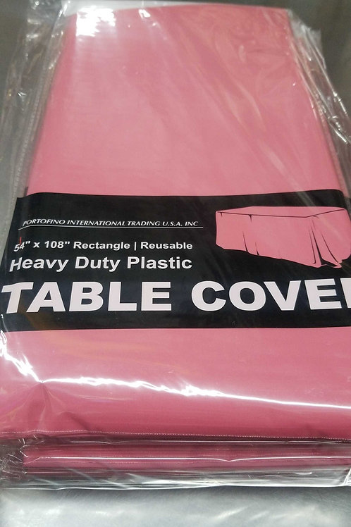 """Plastic Rectangle Tablecover 54"""" x 108"""""""