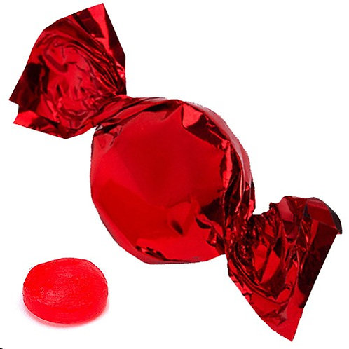 Red Foil Wrapped Fruit Candy - 3  lbs.