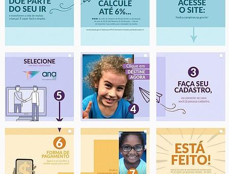 Crianças do ANA lançam a Campanha 2019 de destinação de Imposto de Renda