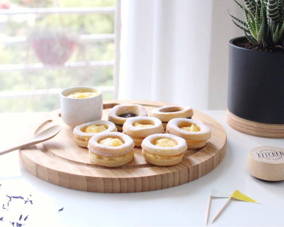 Galletitas con crema de limón