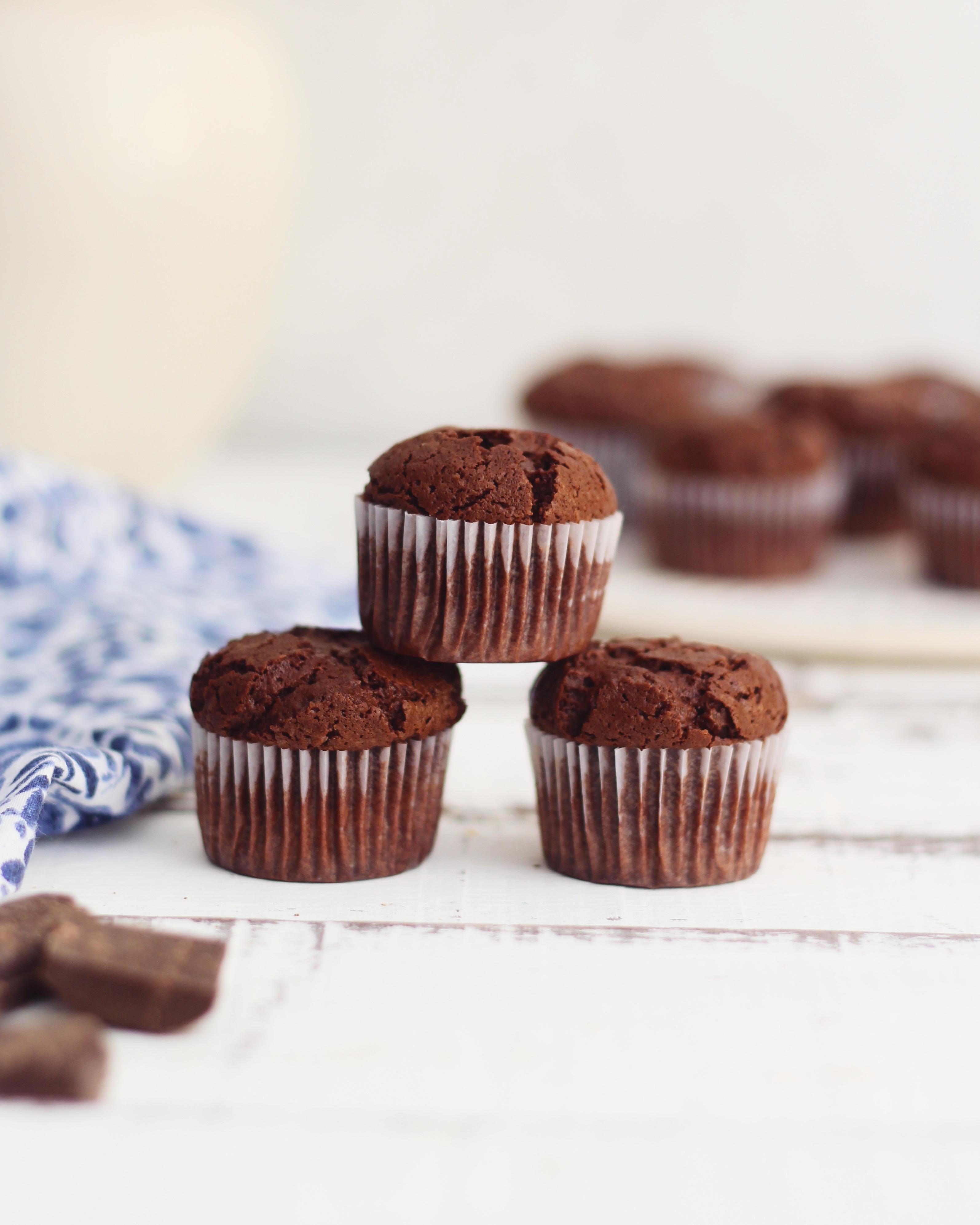Muffins extra chocolate