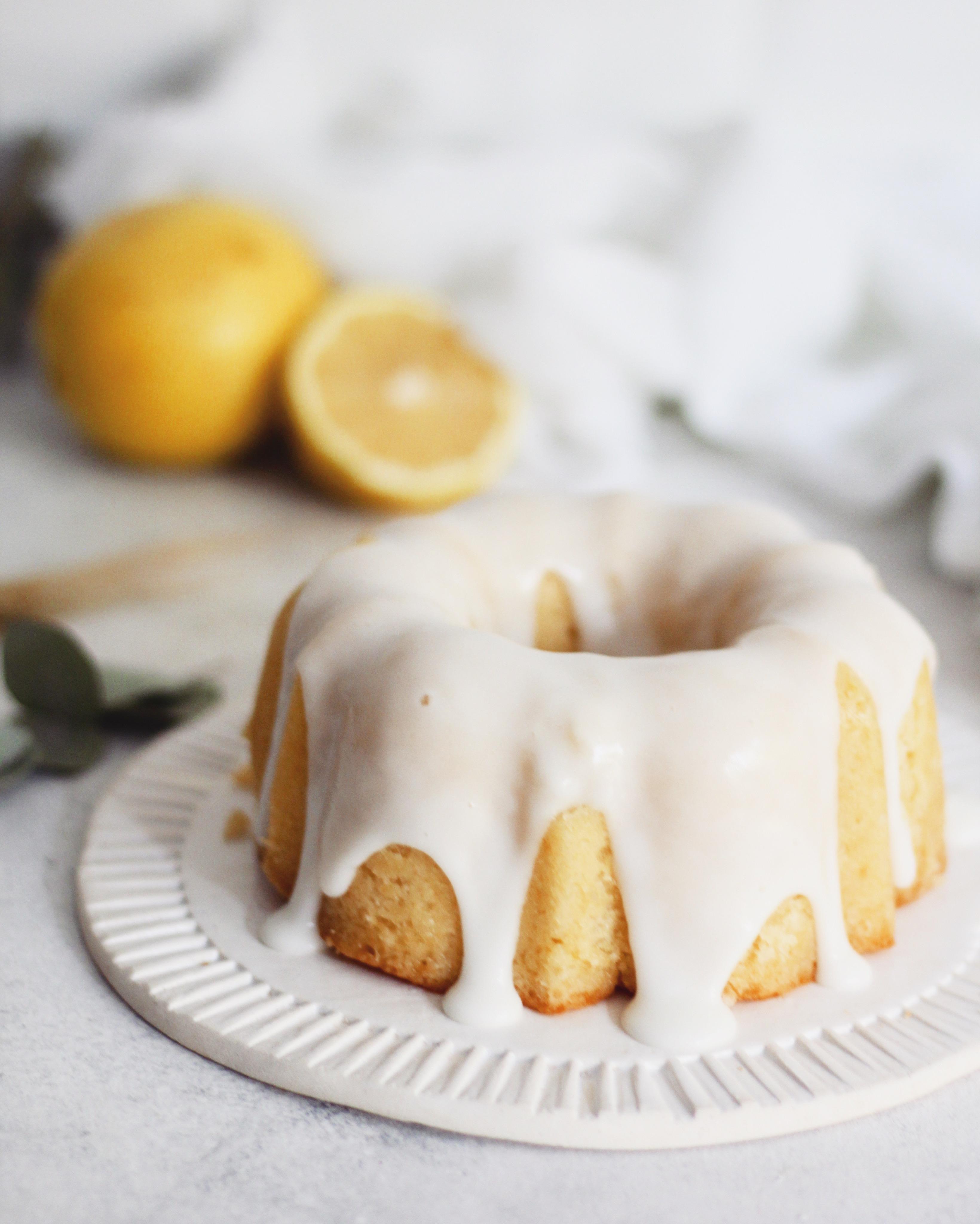 Budin de limón con almíbar