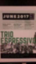 Trio Espressivo. Poster.